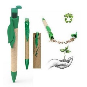 Seed Pen, Plant in a Pen- Biodegradable Green Seed Ballpoint Push Pen