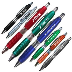 Smart Phone & Tablet Stylus Ballpoint Pen With Comfort Grip
