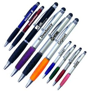 Smart Phone Pen W/Stylus & Comfort Grip - Featured Black