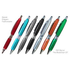 Fashion Ballpoint Pen With Comfort Grip & Stylus