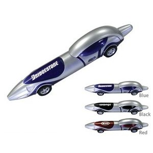 Race Car Automobile Ballpoint Pen - Blue