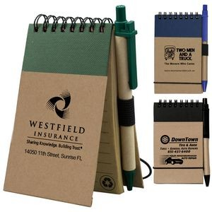"""Arcata"" Recycled Jotter Notepad Notebook w/Recycled Paper Pen"