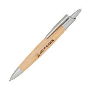 Bamboo-1 Satin Chrome Ballpoint Pen