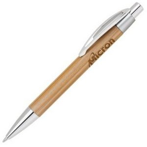 Bamboo-1 Satin Chrome Click Action Ballpoint Pen